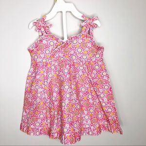 4T🍍NWT Floral Sundress Bows & Ruffle Short Set